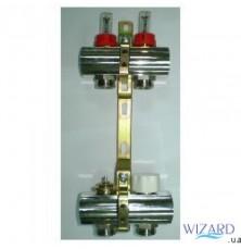 Коллекторная группа с расходомерами и термоклапанами, м30х1,5, KG,R,T5, (5 выходов), Luxor