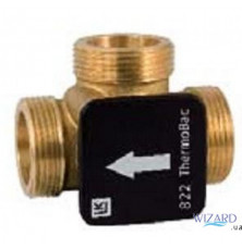 Трехходовый обратный клапан LK 822 механический, (латунь) ННН 1 1/2х61°C, LK Armatur