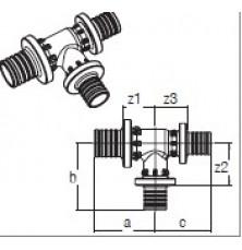 Трійник RAUTITAN PX 25-16-20