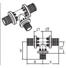 Трійник RAUTITAN PX 32-16-32