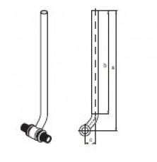Трубка Т (нерж.) RAUTITAN для підключення радіатора, 16,  250 мм