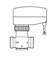 BKT вентіль трьохходовий MV 25 для регулювання т-ри подачі