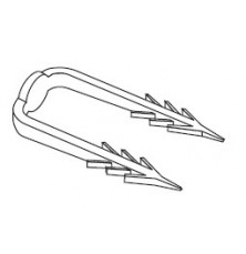 Гарпун-скоба для кріплення шин RAUFIX до ізоляційних матів
