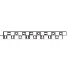 Varionova панель з фіксаторами 20 мм, 950х100 мм