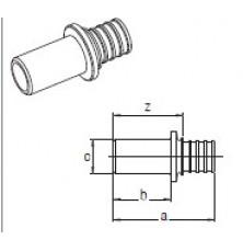 Перехідник RAUTITAN під пайку та запресовку 32-P28 (нерж. сталь)