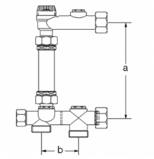 Комплект для установки теплосчетчика Подводка G1